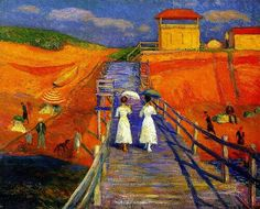 Cape Cod Pier ~ William James Glackens ~ (American 1870-1938)