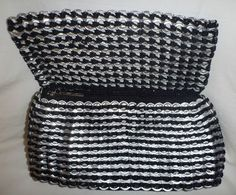 Purse Clutch Made of Recycled Aluminum Can Pull Tab Ring by Social Enterprise | eBay