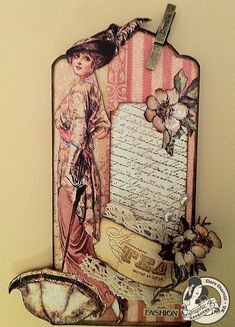 This beautiful A Ladies' Diary tag was made by @Clare Charvill! Gorgeous! #graphic45 #tags