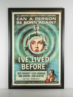 Renew Gallery | I've Lived Before Vintage Movie Poster