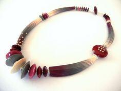 Ethnic Burgundy by Sonya's Polymer creations, via Flickr