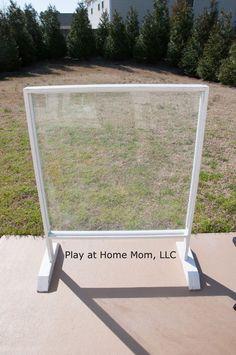 Backyard Plexiglass easel. Easy clean up