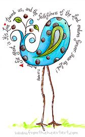 painted paisley designs   Paisley Blue and Brown Spotted Chick Print (Psalm 117:2)