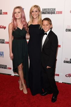 Honoree Reese Witherspoon (C) with Ava Phillippe (L) and Deacon Phillippe (R) attend the 29th American Cinematheque Award honoring Reese Witherspoon at the Hyatt Regency Century Plaza on October 30, 2015 in Los Angeles, California.