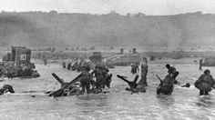Some of the first troops to hit the beach at Normandy, France, on June 6, 1944 16th Infantry Regiment, 1st Infantry Division