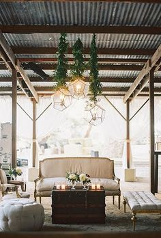Elegant Cocktail Hour Lounge Seating I Luxe Barn Wedding Inspiration