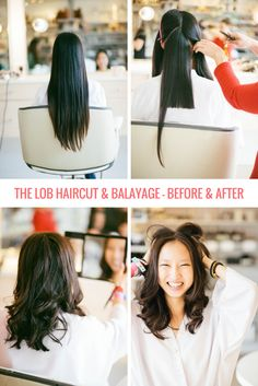 The Lob Haircut & Balayage - Before & After