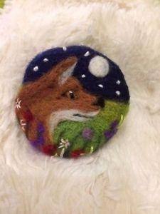 Handmade-needle-felted-039-Fox-039-brooch-gift