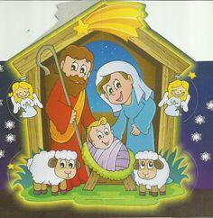 Imagen del Nacimiento del Niño Dios en farol de cartón