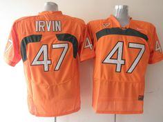 new styles 9b190 e069c ncaa jerseys miami hurricanes 47 michael irvin white college ...