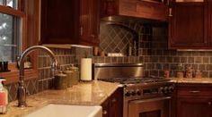 Tiled Back Splash in Kitchen
