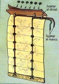 Resultado de imagem para como fazer cortinas romanas passo a passo