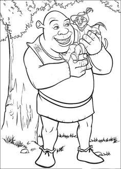 Shrek Tegninger til Farvelægning. Printbare Farvelægning for børn. Tegninger til udskriv og farve nº 136
