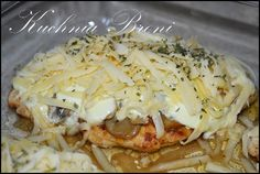 filet z kurczaka z pieczarkami i serem Feta, Lamb, Cabbage, Spaghetti, Chicken, Vegetables, Cooking, Ethnic Recipes, Impreza