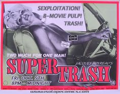 Supertrash Cinema Posters, Film Posters, Communication, Senior Project, Cult Movies, Horror Art, Pulp Fiction, Vintage Posters, Lol