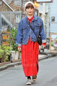 Shiori | used 靴下屋 UNIQLO GLOBAL WORK MUJI CONVERSE tutuanna*  | 1st week  Feb. 2017 | Harajuku | Tokyo Street Style | TOKYO STREET FASHION NEWS | style-arena.jp