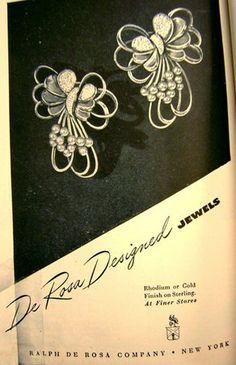 1946 De Rosa jewelry ad