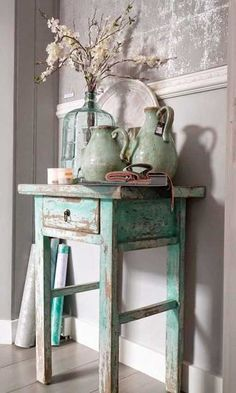 Shabby Chic Decor easy and creative tricks - Wonderful help to organize a comfy and creative simple shabby chic decor . The fantastic tips pinned on this not so shabby day 20181205 , pin note ref 5433475168 Shabby Chic Mode, Shabby Chic Cottage, Shabby Chic Style, Shabby Chic Green, Shabby Chic Farmhouse, Cottage Style, Shabby Chic Furniture, Painted Furniture, Furniture Legs