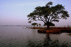 Rankala Lake is a picturesque lake in the Kolhapur District of the state of Maharashtra in western India.Prior to the 8th century this historical place was just a stone quarry. In the earthquake which took place sometime in 9th century some natural structural change took place in the quarry.