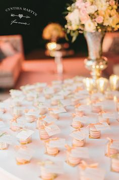 Macaron Favor Boxes by Cake Opera Co. / Cynthia Martyn Fine Events