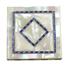 1950's Dexter mother of pearl compact (600) House of Lavande, Vintage Costume and Couture Jewelry | Shop Vintage Vintage Accessories | Palm Beach, Florida