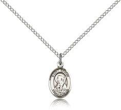 Sterling Silver St. Brigid of Ireland Patron Saint Medal Pendant - Small, St. Brigid of Ireland, Patron Saints - B, Patron Saints, Jewelry by Bliss, Jewelry & Medals, Categories at HolyFamilyOnline.com