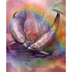 wall decor art 3D diy diamond painting Dolphins swim square drill full diamond embroidery new needlework home decoration #Affiliate
