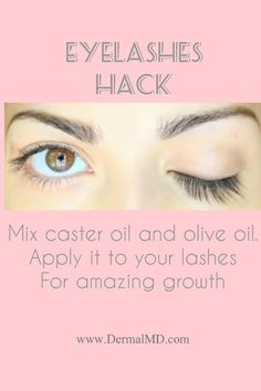 Eyelash can be grown with the help of castor oil and olive oil. Here we have mentioned the best oil hacks for serum results choose Dermalmd eyelash serum. With regular use of it twice a day within a week only you will see great satisfactory results.