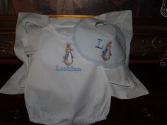 A personal favorite from my Etsy shop https://www.etsy.com/listing/267906116/peter-rabbit-personalized-classic-cotton
