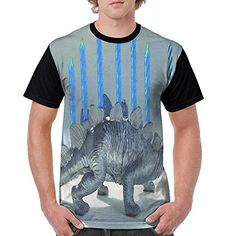Dinosaur menorah Hanukkah t-shirt men's