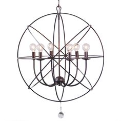 Crystorama Lighting Group Solaris English Bronze Six Light Chandelier On SALE