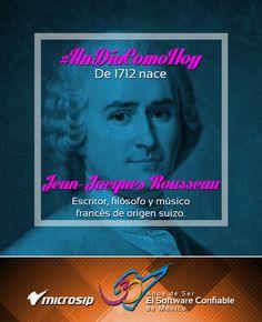 #UnDíaComoHoy 27 de junio pero de 1712 nace Jean-Jacques Rousseau, escritor, filósofo y músico francés de origen suizo.