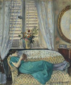Woman reading by Henri Lebasque