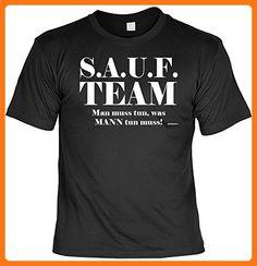 T-Shirt - SAUF Team Man muss tun, was Mann tun muss - lustiges Sprüche Shirt als Geschenk für Biertrinker mit Humor (*Partner Link)