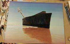 Boat wreck #oilpainting