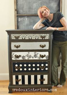 how to decoupage fabric over painted wood, how to, reupholster
