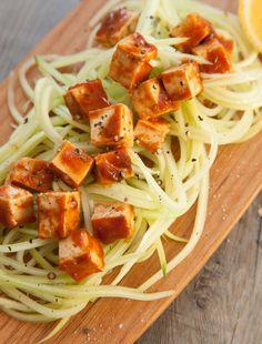 Cucumber Salad & BBQ Tofu Recipe.