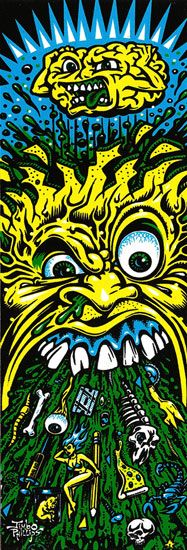 SICK Sticker screen printed color vinyl sticker from Jimbo Phillips webstore Graffiti Art, Skateboard Deck Art, Skate Art, Skate Decks, Art For Art Sake, Visionary Art, Creative Art, Psychedelic, Screen Printing