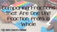 Read about comparing fractions that are one unit fraction from a whole. Watch a video of students playing a game of WAR and download the cards for free! 4th Grade Fractions, Third Grade Math, Grade 3, Tools For Teaching, Teaching Math, Maths, Teaching Ideas, Fraction Activities, Math Resources