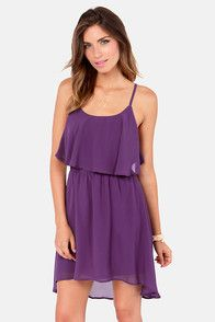 Behind Your Back Backless Purple Dress