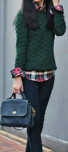Tips on how to wear a plaid or flannel~