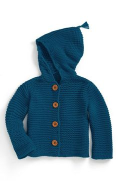 Stem Baby 'Lofty' Organic Cotton Hooded Cardigan (Baby) available at #Nordstrom