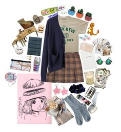 """where is my mind?"" by sincerelysarina ❤ liked on Polyvore featuring Jigsaw, Organic by John Patrick, River Island, Clips, Sloane Stationery, Hahn, Chronicle Books, Paperchase and Frends"