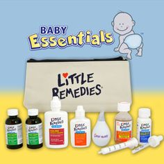 Reach for the safe and effective products in this new parent survival kit when your baby is experiencing discomfort from stomach aches, fever, nasal congestion and cold or allergy symptoms.