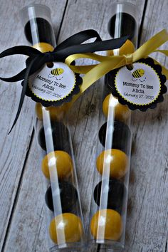 Bumble Bee Black and Yellow Gumball Tube by ChocolateExpress