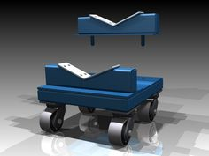 Heavy Duty Material Handling Dollies with two removable cradles to support large cylinders.  Each cradle is lined with a slippery UHMW bearing material to protect the finish of the cylinder.