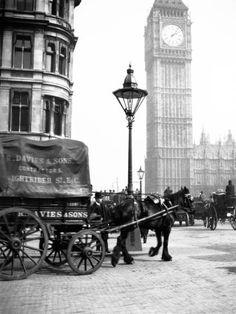 Big Ben, London... c. 1900.....R.Davies & Son, Little Nightrider Street, London..Wonderful Image..