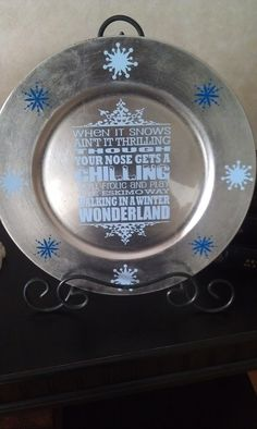 Winter Wonderland plate..... great words for invitation