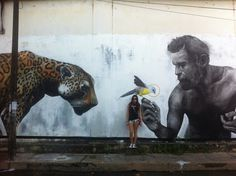 Evoca1 new street art in Tarapoto, Peru