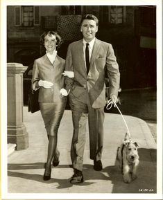 Phyllis Kirk, Peter Lawford and Asta in the TV series The Thin Man. Asta was part of the reason we got a wire-haired fox terrier!